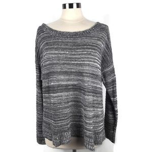 Eileen Fisher Gray Space-Dyed Knit Sweater. Sz XL